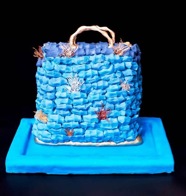 עוגה בצורת סל|צילום: יפעת פרי דפנא