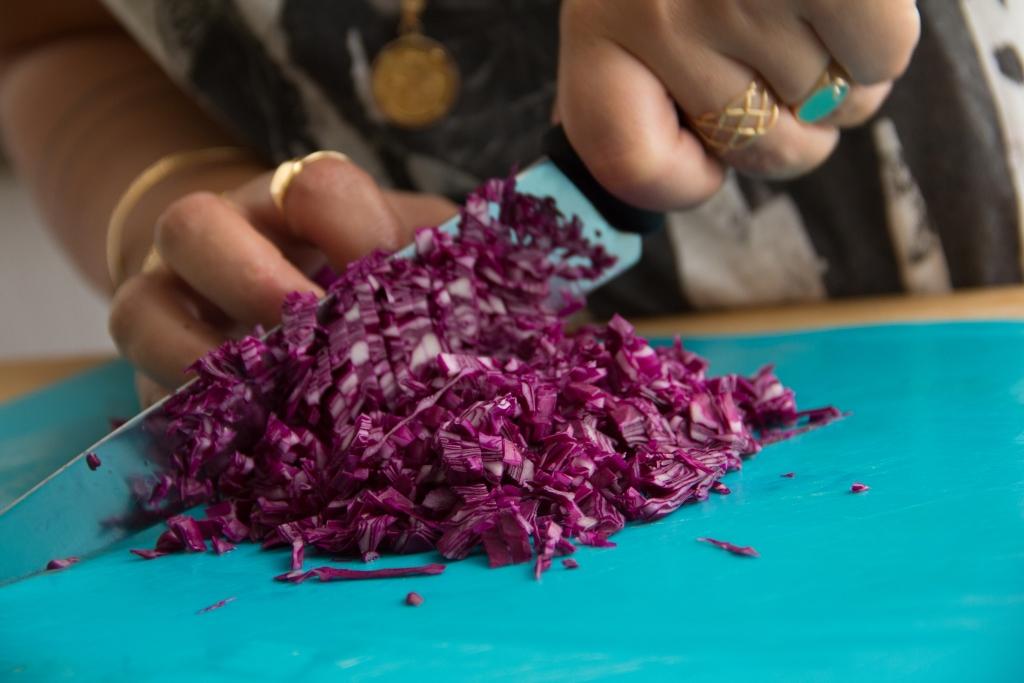 כרוב סגול קצוץ |צילום: קארין דבורה כהן