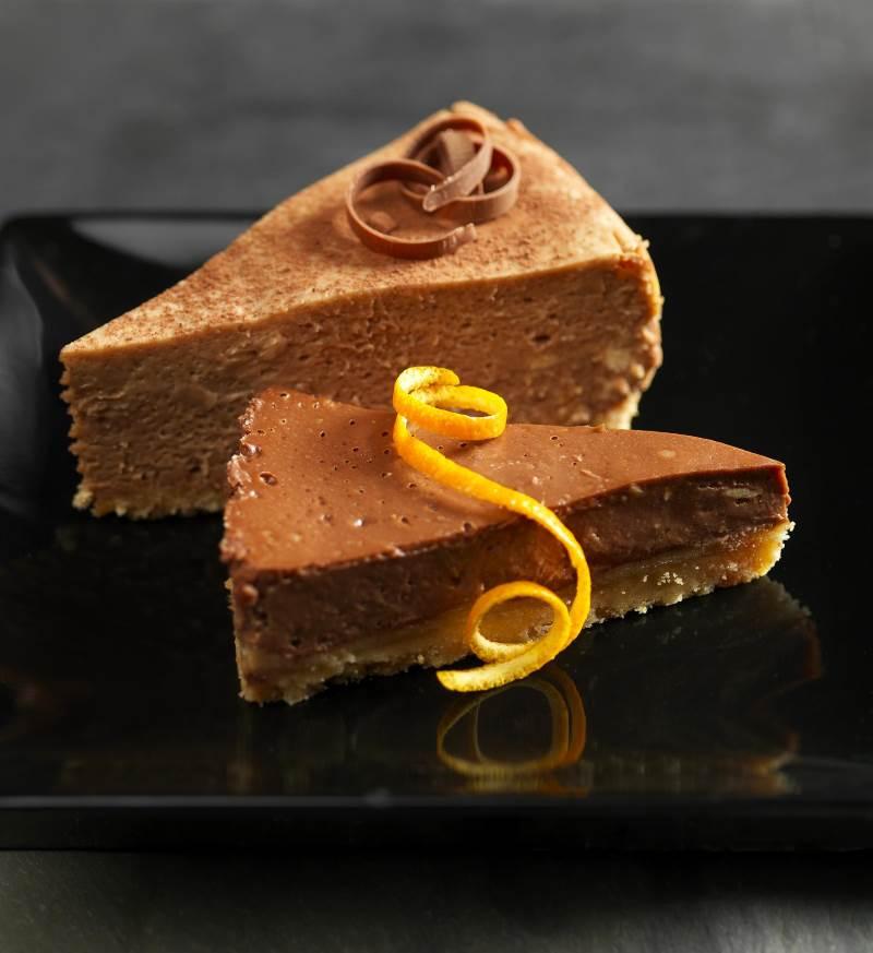 עוגת גבינה בשילוב שוקולד תפוז